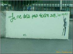 Je ne dois pas écrire sur les murs. (Ecole Curie. Athis-Mons)