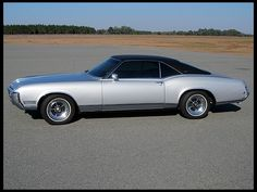 1968 Buick Riviera. An elderly neighbor I once had owned one of these. He didn't drive it, but also wouldn't sell it. I didn't get it until I was much older - he knew what he had.