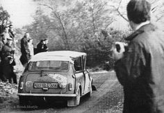 1966 RAC Rally .. Crewed by Simo Lampinen and Tony Ambrose, didn't get to far after this roll in the notorious Dovery stage .