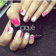 Pink and white