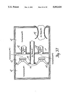Patent US5092424 - Electroacoustical transducing with at least three cascaded subchambers - Google Patents