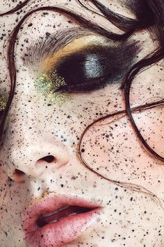Macro Makeup Photography - Freckles makeup - Fashion photography - Beauty