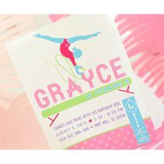 Gymnastics Party Invitation Printable