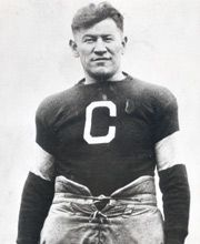 Jim Thorpe signed with the 1915 Canton Bulldogs for the princely sum of $250 a game.  The Bulldogs claimed the unofficial championships in 1916, 1917, and 1919.