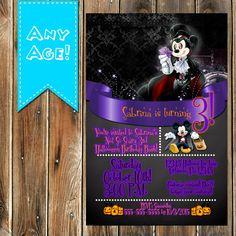 Mickey MOUSE Halloween BIRTHDAY invitation by MyPrintableParty