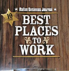 Dallas Business Journal Best Places to Work event 2012.