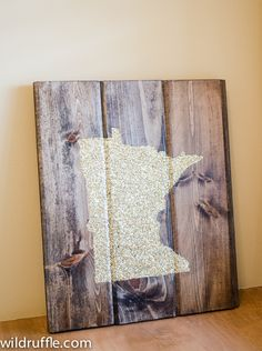 Handmade MN sign from Allison Marie Design - Make one of these with our states of birth