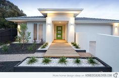 15 Modern Front Yard Landscape Ideas | Home Design Lover