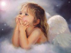 Angels - wonder what she is thinking?!