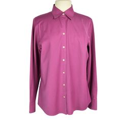 Eddie Bauer Women L Wrinkle Resist Top Relax Cotton Stripe Button Front LS Pink Women's Henley, Henley Shirts, Long Sleeve Henley, Blue V, Tunic Shirt, Peasant Tops, Wonderful Things, Eddie Bauer, Blouses For Women