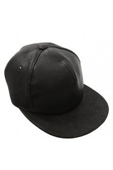 Adjustable Leather Cap in Black from the Rick Owens DRKSHDW AW13 menswear collection. Now available at Hervia http://www.hervia.com/adjustable-leather-cap-black-p11207 #Hervia #RickOwens #Accessories #AW13 #Menswear #Cap #Studs #Leather #DRKSHDW