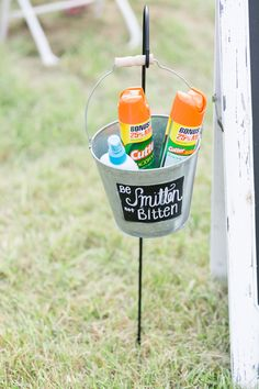 Be Smitten not Bitten Wedding Bug Spray Holder