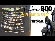 HOW TO MAKE A PEEKABOO SHIRT | Peekaboo Sublimation T-Shirt Tutorial - YouTube T Shirt Tutorial, Sublime Shirt, Cricut Craft, Youtube, Shirts, Dress Shirts, Youtubers, Shirt, Youtube Movies