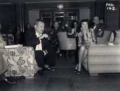 Partying on board the Queen Mary's Second Class Lounge.  Bizarre Los Angeles.