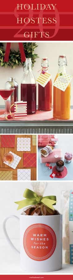 Find the perfect way to show appreciation for your host and hostess with these thoughtful homemade gift ideas. Get recipes and packaging ideas for candy, cookies, jam, spiced nuts, and drink mixers, as well as craft how-tos, inspiration for gift baskets, and more.