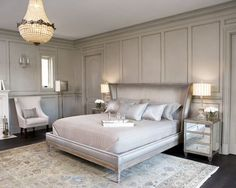 elegant bedrooms grey, silver pastels | Decorating A Silver Bedroom: Ideas & Inspiration