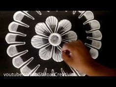 Small, easy and quick rangoli design