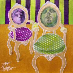 Büszkeség és balítélet - Pride and Prejudice, mixed media, canvas panel, 30x30 cm, 2015.