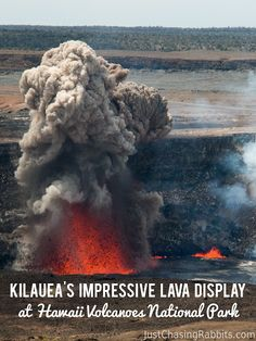 Witnessing an eruption: Kilauea's Impressive Lava Display at Hawaii Volcanoes National Park