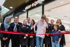 eeb198f3a65 A eye cancer survivor joined the Vision Express Peterborough team as they  unveiled their newly refitted store.