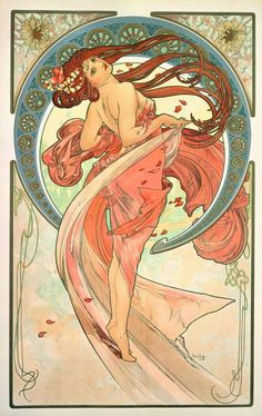 The Arts: Dance (1898) Alphonse Mucha