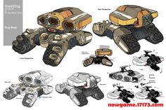 车子的原画设计