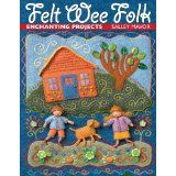 """Read """"Felt Wee Folk Enchanting Projects"""" by Salley Mavor available from Rakuten Kobo. Salley Mavor's charming, bendable Wee Folk fairies and dolls are real show-stoppers. Learn to create your own tiny figur. Felt Embroidery, Felt Applique, Embroidery Supplies, Book Crafts, Felt Crafts, Craft Books, Hansel Y Gretel, Folk Print, Needle Felted"""