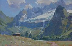 Summer. St. Sophia glacier. 2016 18/22 cm #Impressionist #pleinair #impressionizm  #oiloncanvas #oillandscape  #painting #paintings  #artcollector  #oilpaintings #buyart #contemporaryart #gallery  #artgallery #fineart  #impressionnisme #impressionismus #alexanderbabich #allaprima #realism  #arkhyz #живописьмаслом #живопись #artstarsmag #pleinair  #plein_air_life #kavkaz
