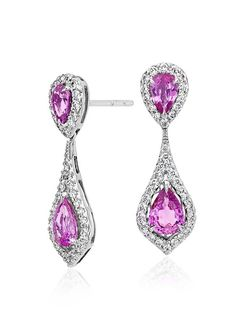 Be the princess of the party on your wedding day in these pretty pink sapphire earrings.