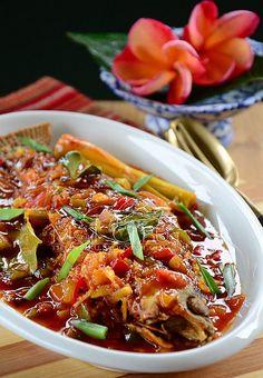 Resepi Ikan Siakap Masam Manis ala Thai