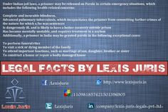 Legal Facts by Lexis Juris - Know what are the Parole terms as per the law of India.
