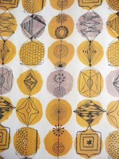 Fabric Patterns Lucienne Day pioneer of contemporary design and one of my favourite textile designers of the century - Lucienne Day, Motifs Textiles, Textile Patterns, Textile Prints, Print Patterns, Design Textile, Fabric Design, Impression Textile, Stoff Design