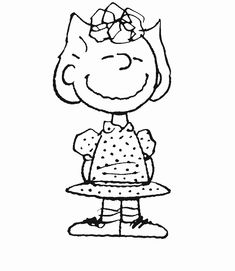 sally peanuts characters coloring pages