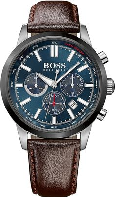 Hugo Boss RACING Chrono silberfarben/bra 1513187 Herrenchronograph
