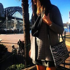 Our Zebra shoulder bag is the perfect accessory for a long stroll around Sydney Harbor...  #burleeaustralia #bagoftheday #instadaily #fashion #bags #sydney #sydneyharbour #instabag