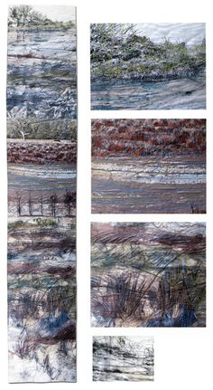 Somerset Levels by Sandra Meech Textile Fiber Art, Textile Artists, Landscape Art Quilts, Creative Textiles, Thread Painting, Modern Artists, Fabric Art, Artist Art, All Art