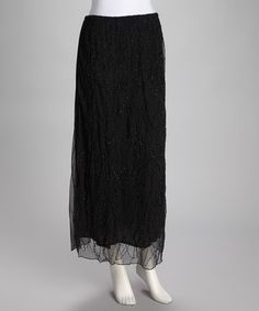 Take a look at this Black Beaded Skirt  by Get Gorgeous: Women's Apparel on #zulily original 80.00 Zulily price $19.99