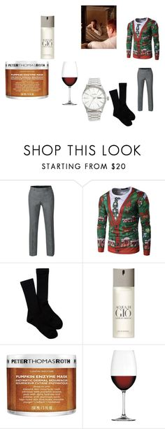 """""""Merry F***in' Christmas"""" by pepper2good4u on Polyvore featuring Pendleton, Giorgio Armani, Peter Thomas Roth, Nachtmann and Nixon"""