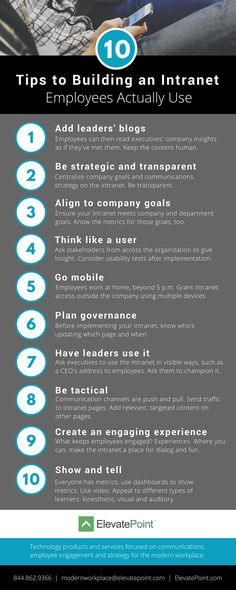 10 Tips to Building an Intranet Your Employees Will Actually Use | Internal Communications | HR