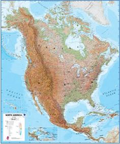 North america wall map and then i travelled all over north america maps are really in right now great for decoupaging paper beads or other gumiabroncs Images