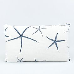 Get the Reversible Starfish and Chevron Lumbar Decorative Pillow, which features starfish on one side and a chevron design on the other making it a great toss pillow.