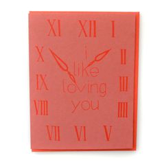 I Like Loving You (All The Time) Letterpress Printed A2 Card, perfect for #Valentines