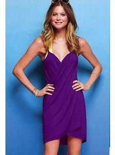 Violet Open Back Cover-up Dress