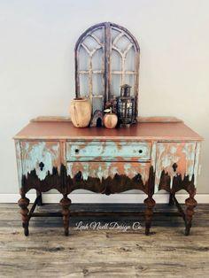 Leah Noell Design Co | Leah Noell Design Co - painted sideboard #paintedfurniture