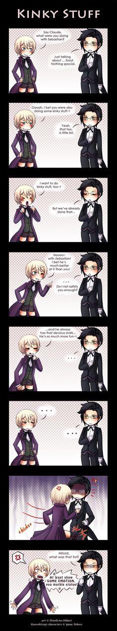Black butler comic: Kinky stuff :D