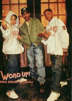 Kriss Kross x Chi-Ali Word Up Magazine 80s Hip Hop, Hip Hop And R&b, Hip Hop Rap, Hip Hop Fashion, 90s Fashion, Fashion Outfits, Word Up Magazine, Whats Wallpaper, Kris Kross