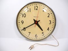 vintage schoolhouse wall clock