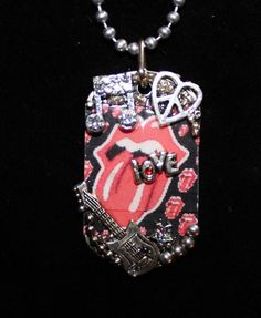Rolling Stone Fan   Dog Tag Necklace by Forever peace  www.foreverpeace.etsy.com