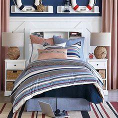 Marina Mist Stripe Bedding Collection from PoshTots