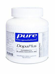 Pure Encapsulations DopaPlus 180 Caps by Pure Encapsulations DopaPlus. $41.90. Promotes the production of dopamine to support daily cognitive function and mental tasks. Includes the synergistic cofactors vitamin B6, Metafolin® L-5-MTHF, and zinc to support dopamine production. DopaPlus supports dopamine production and maintains healthy reuptake to enhance daily mental function and sharpness. Encourages cognitive function and mental sharpness by supporting heal...